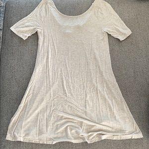 Oatmeal SOFT Tee Shirt Dress